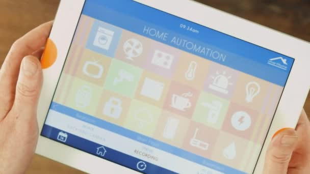 Smart house automation application on tablet
