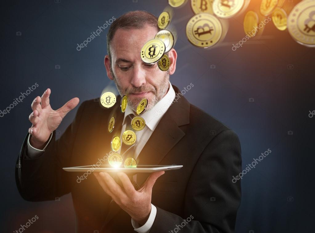 Dinheiro virtual - Bitcoins — fotografia de stock