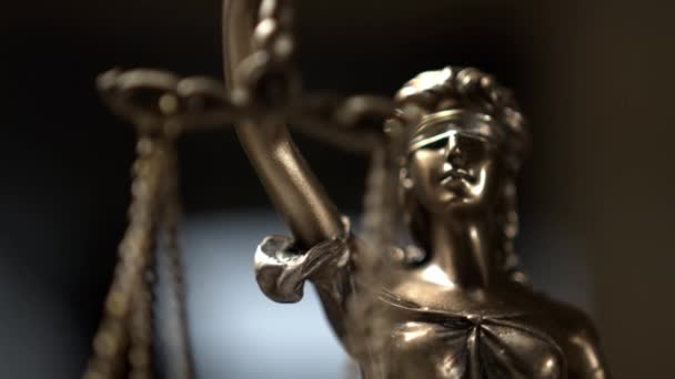 The Statue of Justice - lady justice or Iustitia / Justitia the Roman goddess of Justice in lawyer office