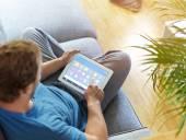 Člověk používá počítače tablet Pc