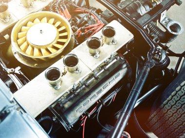 Mechanical part of Porsche automobile