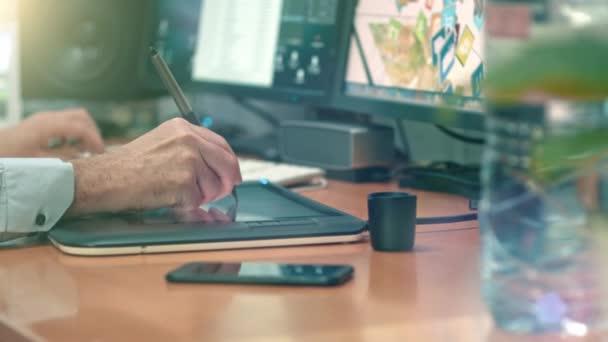 Grafik s kreslení tabletu