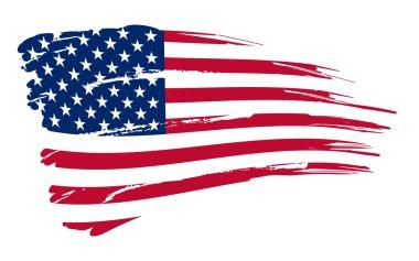 American flag background fully editable vector illustration stock vector