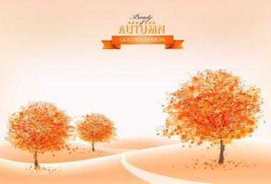 Landscape autumn background. Vector.