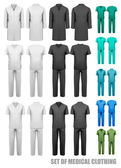 Set of medical clothes. Design template. Vector illustration.
