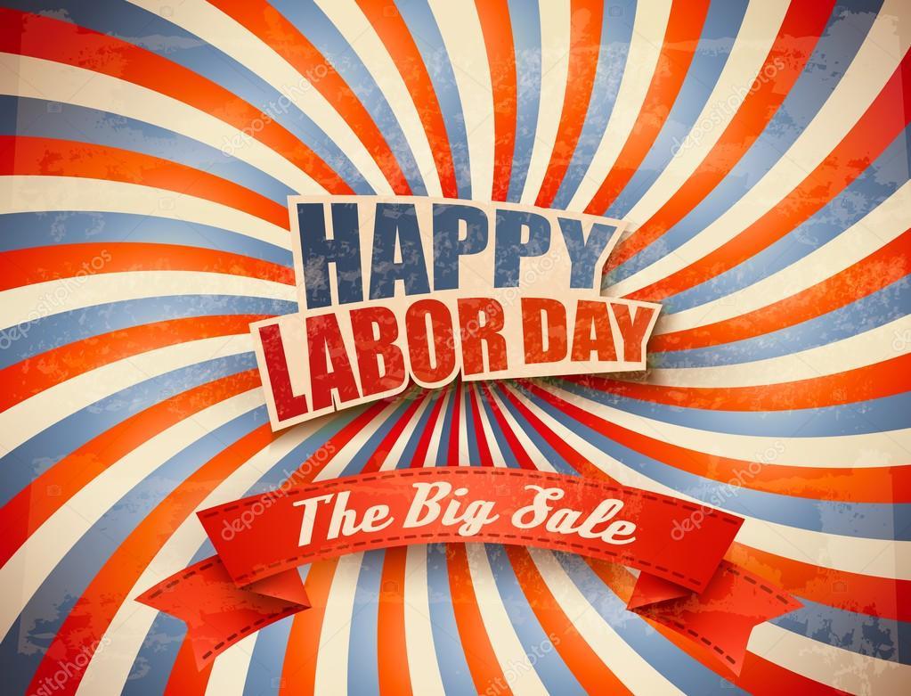 Labor Day Sale Retro Background Vector Stock Vector C Almoond 81833528