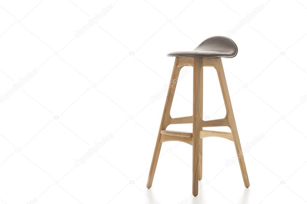 Sgabello alto in legno gamba su bianco u2014 foto stock © moellerthomsen