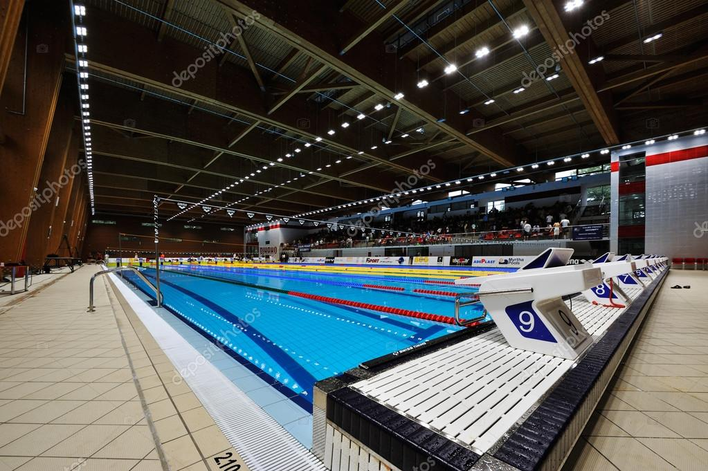 bucharest romania july 10 dinamo olimpyc pool in romanian international championship swimming indoor event on july 10 2015 in bucharest - Olympic Swimming Pool 2015