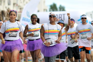 Unidentified people at The Color Run