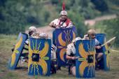 Římské vojsko v bitvě