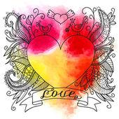 Gyönyörű tetoválás háttér szívvel