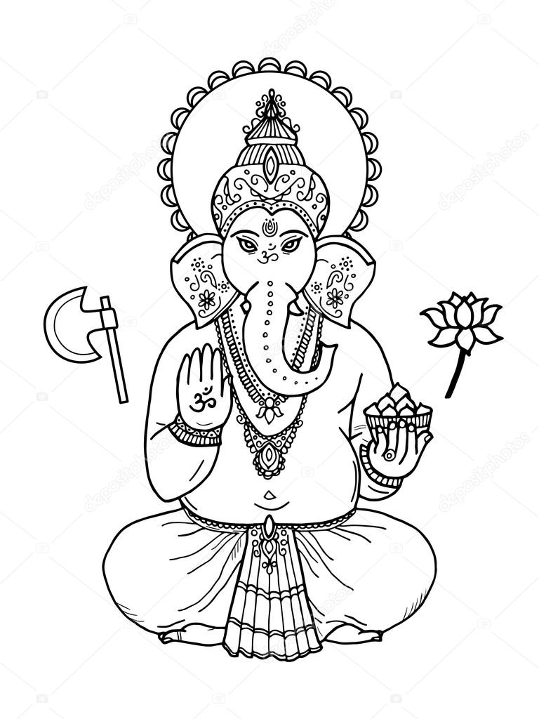 Imágenes Elefantes Hindues Para Dibujar Dios Señor Ganesha Foto