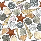Fotografie Nahtlose Muster mit Meer Hintergrund