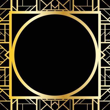 Art deco geometric frame