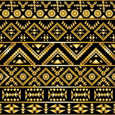 Seamless aztec pattern art deco style
