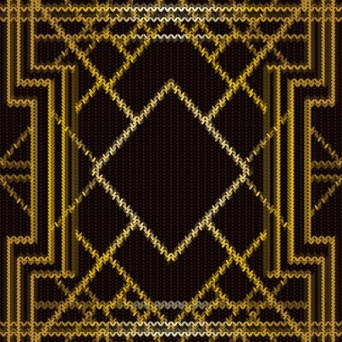 Seamless knitted art deco pattern