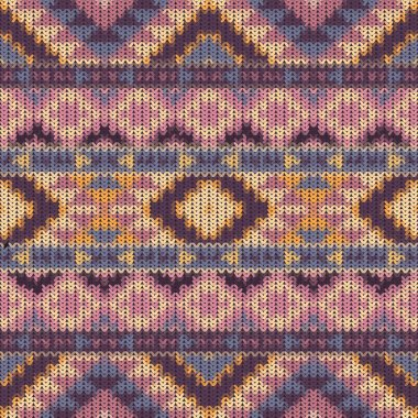 Seamless knitted navajo pattern
