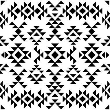 Seamless black and white navajo pattern