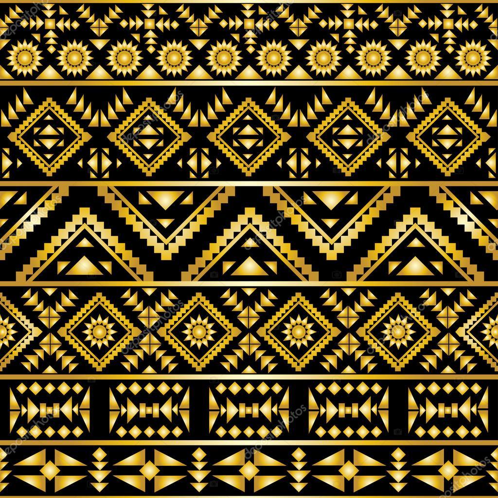 Seamless aztec pattern art deco style — Stock Vector ...