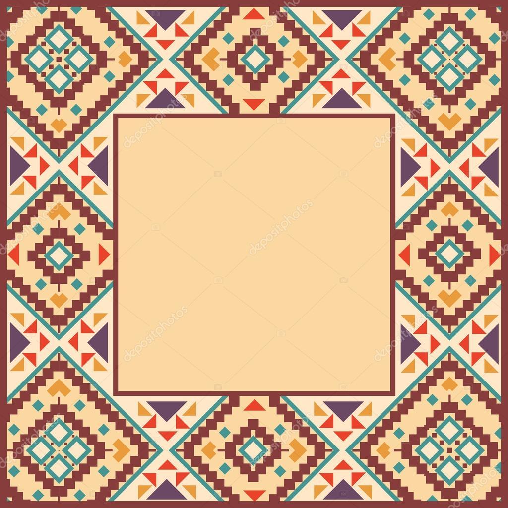 Navajo border designs Food Menu Page Border In Navajo Style Stock Illustration Shumakolowa Native Arts Border In Navajo Style Stock Vector Smirno 61782541
