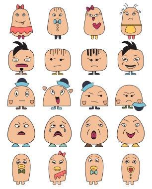 Funny characters avatars