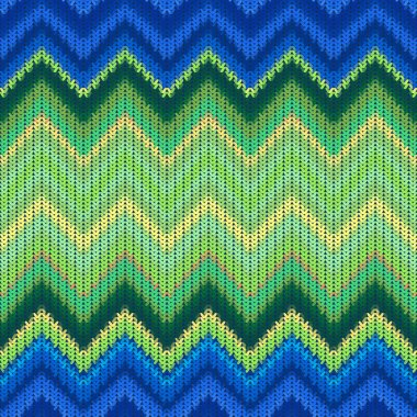 Ethnic chevron geometric pattern background stock vector