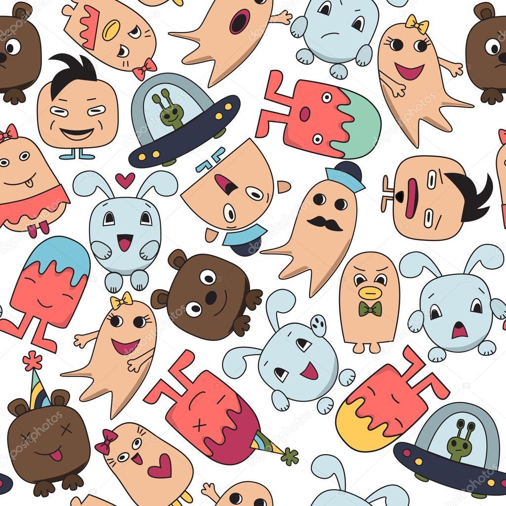 Funny characters avatars — Stock Photo © Smirno #90906182