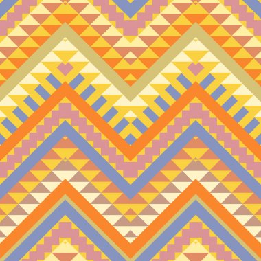 Seamless colorful ethnic pattern stock vector