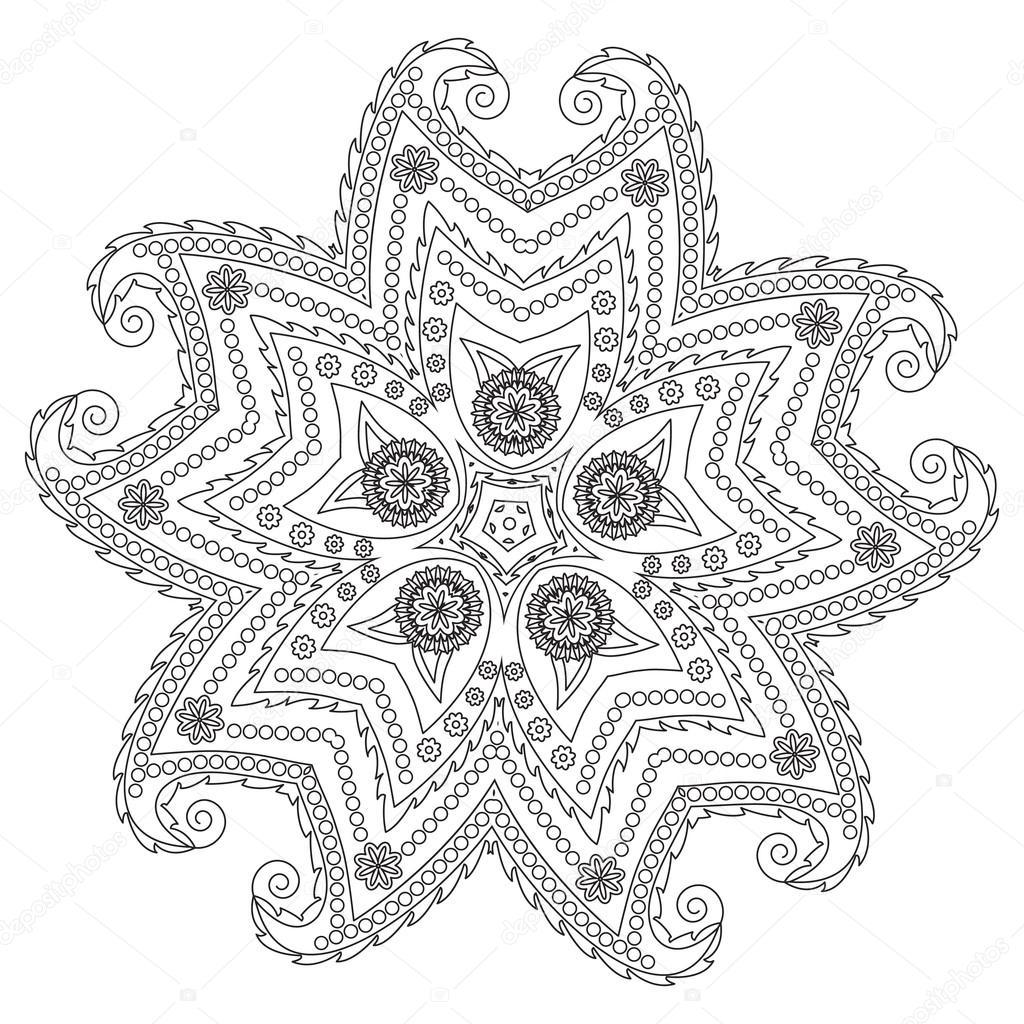Винтажный узор Мандала . — Стоковое фото © Smirno #90917368