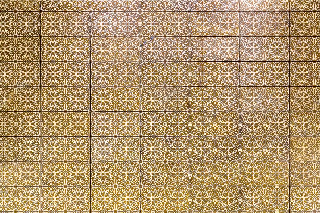 Colore dorato stile turco ottomano piastrelle sfondo con motivi