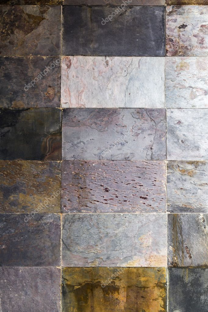 Natural Stone Tiles Close Up Texture Background Stock Photo