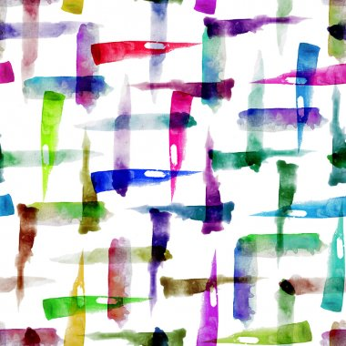 Watercolor brush strokes seamless pattern