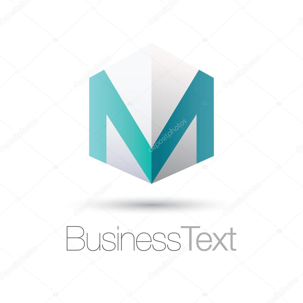 Letter M in a box — Stock Vector © EnginKorkmaz