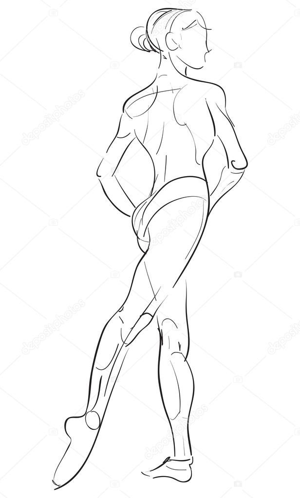 Female anatomy drawing sketch — Stock Vector © EnginKorkmaz #76932941