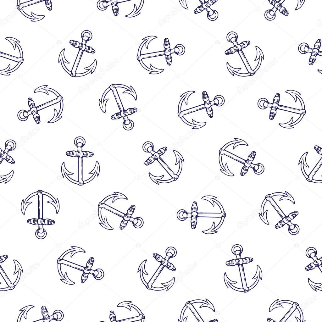 patrón sin costuras ancla — Vector de stock © EnginKorkmaz #78776692