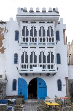 Architectural detail view of traditional Tunisian architecture