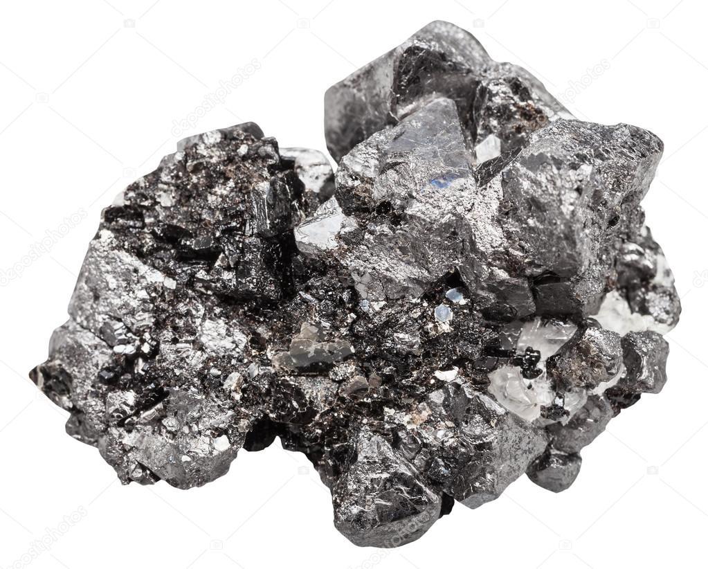 ff73e89e4b0 Drusas de cristais pretos de pedra mineral magnetita — Fotografia de Stock