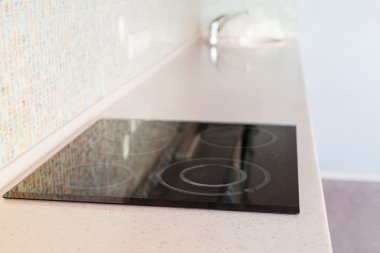 new countertop from with built-in stove and sink