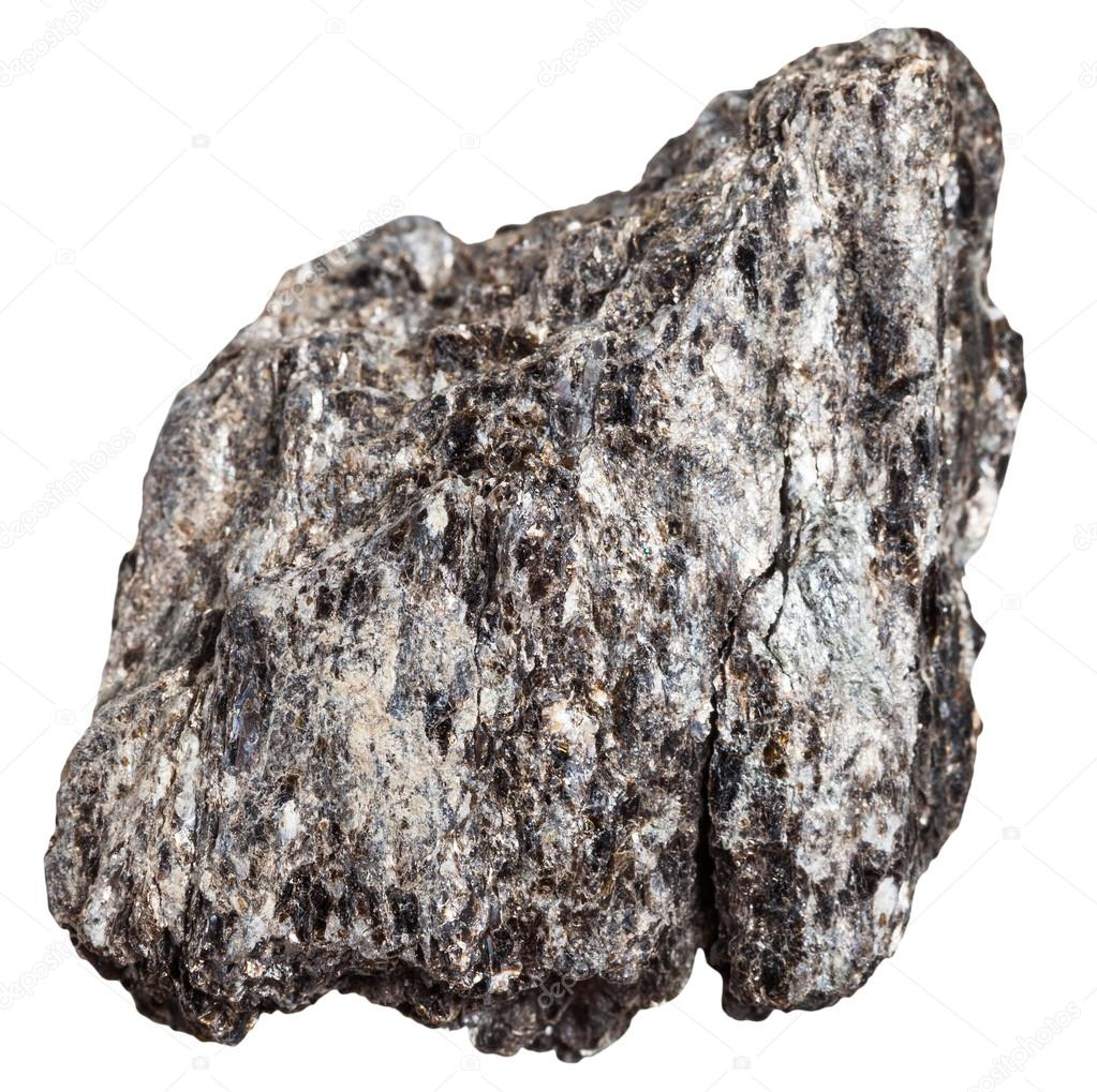 quartz biotite schist mineral isolated stock photo vvoennyy