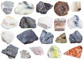 Photo collection of natural mineral specimens