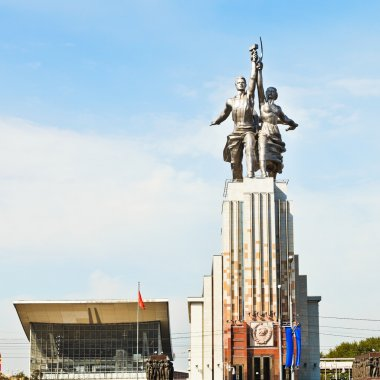 Worker and Kolkhoz Woman sculpture in Moscow