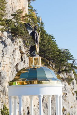 St. Michael Archangel statue near Ai-Nikola mount