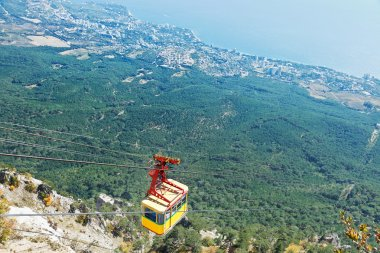Cableway on Southern coast of Crimea