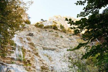 waterfall uchan-su in Crimean mountain in autumn