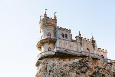 Swallow's Nest castle on top Aurora cliff, Crimea