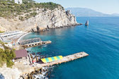 Parus (plachta) rocku a pláž, Krym