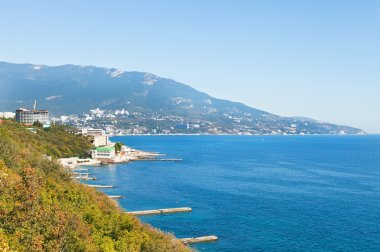 view of Yalta city from Livadia district