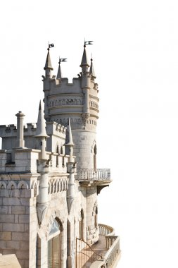 Swallow's Nest castle in Crimea isolated