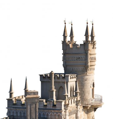Swallow Nest palace in Crimea isolated