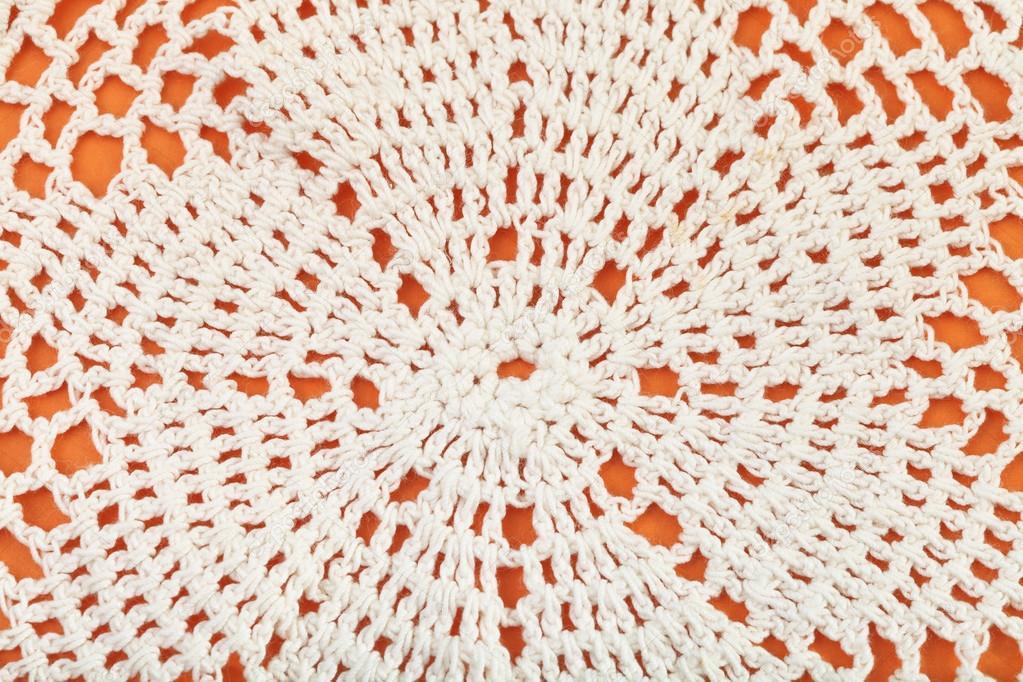 ornamento de mantel de encaje bordado de crochet — Foto de stock ...